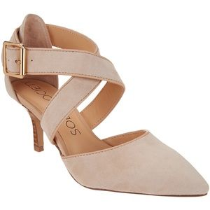 Sole Society Pointy Toe Pump Adobe Rose Gold